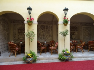 courtyard of hotel